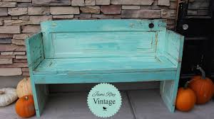 Bench Out Of Headboard How To Build A Bench Out Of An Old Door Diy Bench Jami Ray