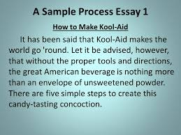 the process essay process ppt video online  a sample process essay 1