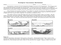 Ecological Succession Worksheets Worksheets for all | Download and ...