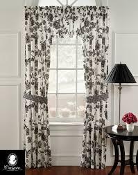 chantal pure cotton fl toile panel set curtainworks com