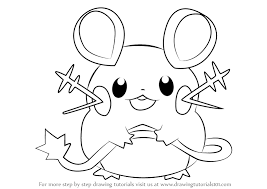 Pokemon Coloring Pages Dedenne At Getdrawingscom Free For