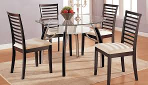 furniture wooden and glass dining chairs room table dark kirk cool set oak modern round sets