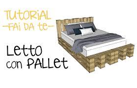Come Costruire Un Letto Con I Pallet Video Tutorial Fai Da Te Costruire Un Divano Letto Con Pallet