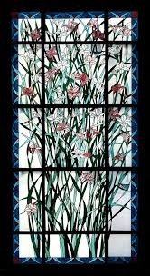 custom made stained glass window day lily