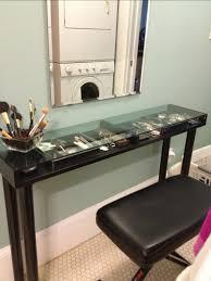 bedroom vanity brown chair