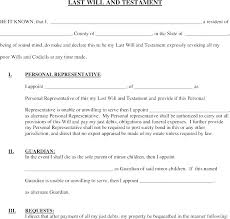 Easy Last Will And Testament Free Template Inspirational