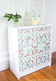 patterns furniture. DIY Ikea Rast Dresser Hack With Stenciled Style   Khanjali Ikat Stencil By Royal Design Studio Patterns Furniture
