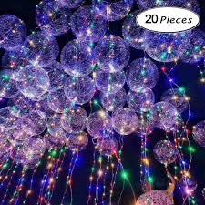 String Light Balloon Amazon Com Led Light Up Balloons Bobo Balloon Led String