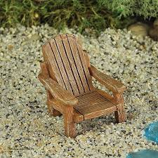 mini adirondack chair new miniature dollhouse fairy garden adirondack chair tan