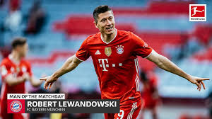 Robert lewandowski is a polish professional footballer who plays as a striker for bundesliga club bayern munich and is the captain of the po. Bundesliga Bayern Munich S Robert Lewandowski Md32 S Man Of The Matchday One Goal From Bundesliga History