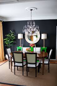 Black Walls In Dining Room