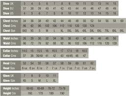 Army Service Uniform Size Chart Size Chart And Conversions Uniforms U S Militaria Forum