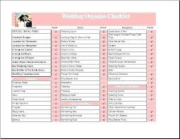 To Do List Wedding Template Excel Checklist Table Free