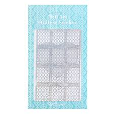 diy creative silver manicure sticker printing template hollow decals