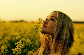 Image result for girl with yellow flowers