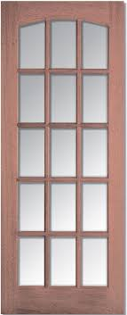 hardwood imperial clear bevel glass internal door