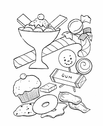 Small Picture BlueBonkers Birthday Sweets and Treats Coloring Page Sheets