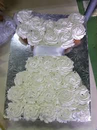 First munion or wedding dress cupcake cake Yelp