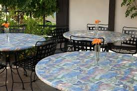 outdoor tablecloths are offered in vinyl as well as cloth round patio tablecloth with umbrella hole