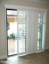 patio door wood blinds sliding shutters for patio doors first rate sliding shutters for patio door