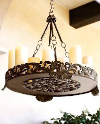 round candle chandelier modern fantastic non electric medium size of within 12