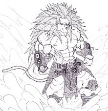 Small Picture Dragon Ball Z Coloring Pages Goku Super Saiyan 5 esonme