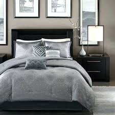 white and silver bedding set full