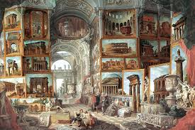 set of these paintings again for the comte now in the louvre robert himself owned a later third version of pannini s gallery view paintings as well as