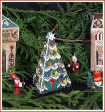 Village Christmas Tree Cross Stitch Chart