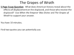 displacement in america ppt the grapes of wrath
