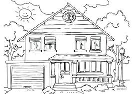 Simple House Coloring Page For Kids Free Printable Picture This