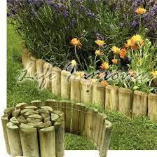 wooden garden borders