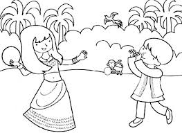 Small Picture Brother and Sister Celebrate Diwali Coloring Page NetArt