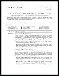 Fitness Instructor Resume Personal Trainer Resume Sample Training