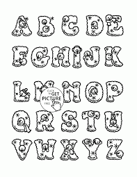 free coloring pages alphabet letters within