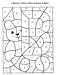 Color By Number And Letter Coloring Pages
