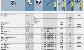 Bosch Icon Wiper Blade Chart Bosch Wiper Blades Size Chart Best Picture Of Chart