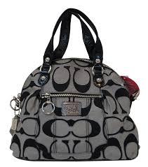 COACH Poppy Metallic Signature Foldover Shoulder Handbag E2980