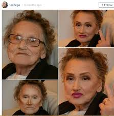 insram account and livia 80 year old grandma who stays in a nursing home was given a makeover by