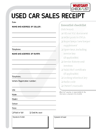 Vehicle Purchase Receipt Template