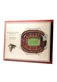 Atlanta Falcons Seating Chart 3d Atlanta Falcons 5 Layer Stadiumviews 3d Wall Art