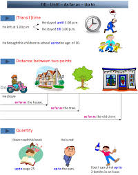 Adverbs : Till - Until- As far as - Up to-English