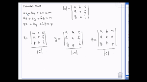 algebra 2 solving systems of equations in 2 and 3 variables use cramers rule 3 22 13