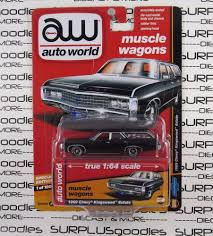 Auto World 1:64 2017 Hobby Exclusive Black 1969 CHEVY KINGSWOOD ...