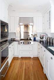 In how to make a lot better galley shaped kitchen at high value of beauty as well as wider impression, then you should have to make the flooring in light color and hardwood will be my best recommendation. 43 Extremely Creative Small Kitchen Design Ideas Galley Kitchen Design Kitchen Remodel Small Galley Kitchen Remodel
