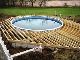 image of above ground pools with decks plans