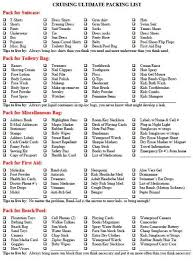 Cruise Packing List I Know Ive Seen A Packing List Cruise Pinterest Cruise