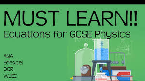 equations for gcse physics must learn revision for 9 1 gcse physics or combined science