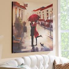 red umbrella couple canvas art wall decor on couple with red umbrella wall art with amazon red umbrella couple canvas art wall decor paintings