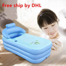 2018 free ship dhl spa pvc folding portable bathtub for s inflatable bath tub size 160cm 84cm 64cm foot air pump from timelesszeng